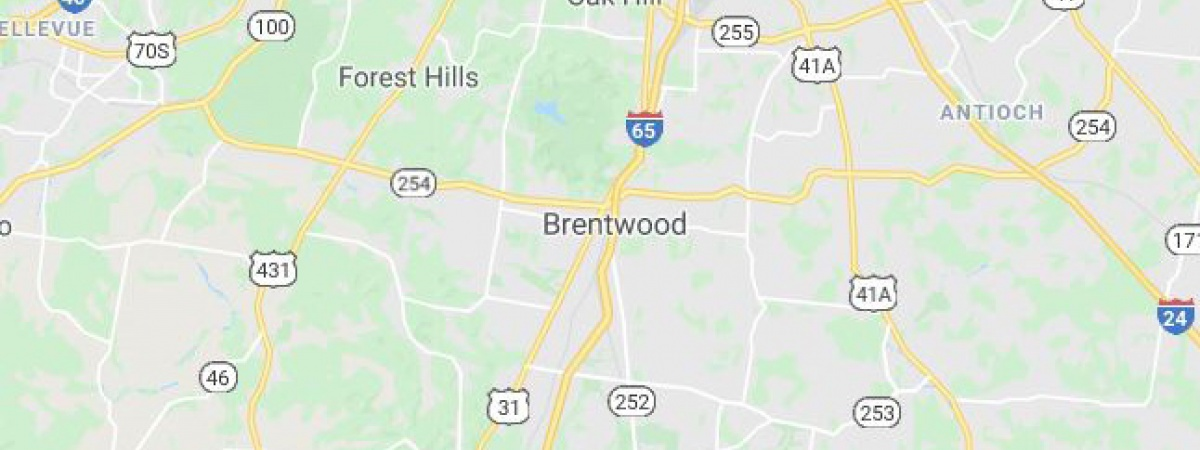1143 Columbia Avenue Franklin - Nashville TN MAP